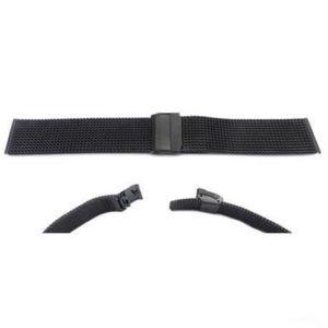 Hadley Roma Black Mesh Design Watch Strap